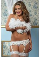 Lace Affairs Garter Belt White 3/4x