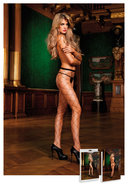 Diamond Net Pantyhose  Black (disc)