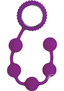 Sinful Anal Beads Silicone - Purple