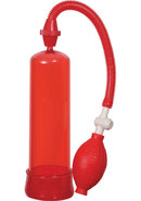 Linx Pumped Up Fire Penis Pump - Red