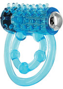 Trinity Vibes Penis Ring - Vibe Removable - Blue