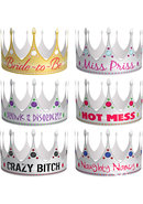 Bride-to-be`s Party Crowns (6 Per Pack)