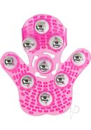 Simple And True Roller Balls Massager Glove - Pink